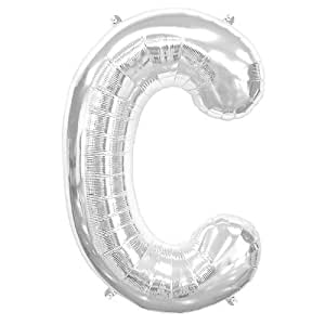 Northstar Balloons 16 inch Letter C Silver Air Filled Foil Balloon