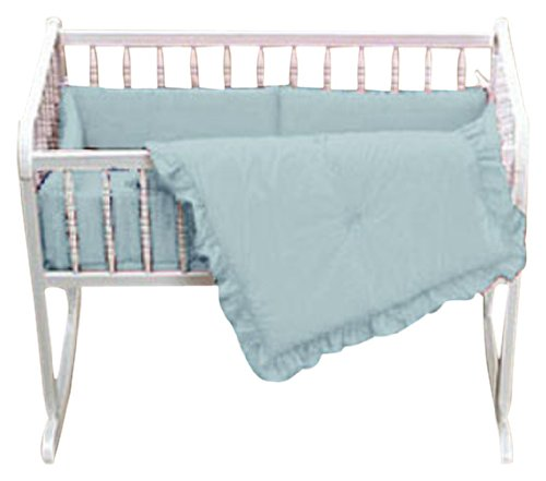 Baby Doll Bedding Solid Port-a-Crib Set, Blue
