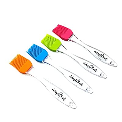 Silicone Basting & Pastry Brushes by AdeptChef, Great for BBQ Meat, Cakes & Pastries - Heatproof, Flexible & Dishwasher Safe, EASY Clean, Food Grade, BPA Free, FDA Approved, BUY YOUR SET OF 4 TODAY!