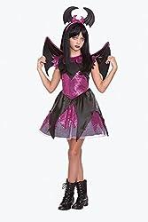 Halloween Wholesalers Girl's Batty Beauty-Small/Medium Black & Pink