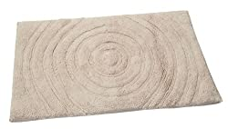 Textile Décor Castle Hill Bath Mat with Spray Latex Backing, Echo Design, 21 by 34-Inch, Ivory
