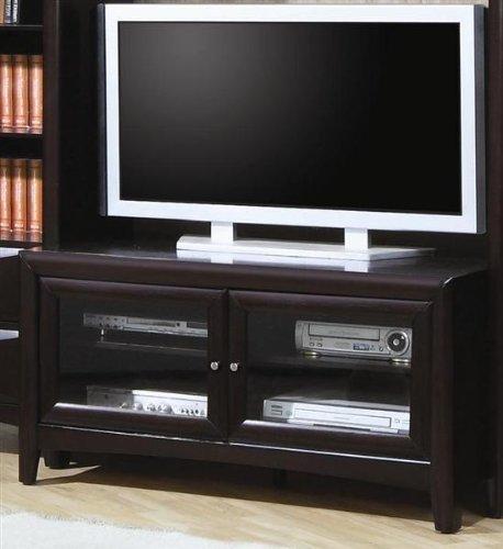 Contemporary Cappuccino Finish Lcd / Plasma Flat Panel Tv Stand