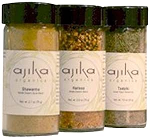 Ajika Organic Beef Lovers Spice Blend Gift Set 16-ounce by Ethnic Foods Company
