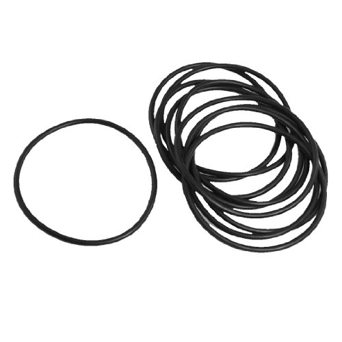 10 Pcs 70Mm X 3Mm X 64Mm Mechanical Black Nbr O Rings Oil Seal Washers front-164527