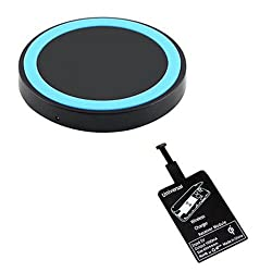 Gadget Bucket Universal Wireless Charger Pad With Receiver Chip For Android Mobiles Phone