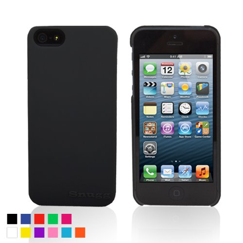 Snugg iPhone 5 / 5S Ultra Thin Case in Black - High Quality Slim Profile Non Slip, Protective and Soft to touch for Apple iPhone 5 / 5S