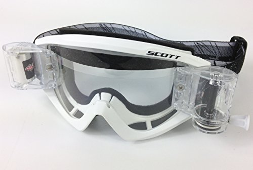 Scott Recoil XI Motocross MX Goggles White with Goggle-Shop Roll-Off System