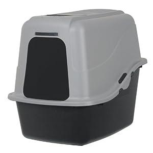 Petmate Hooded Litter Pan Set Large, Black/Gray