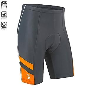Tenn Mens Coolflo 8 Panel Padded Cycling Shorts - Black/Hi-Viz Orange - Lrg