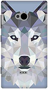 The Racoon Lean Ice Wolf Edged hard plastic printed back case / cover for Nokia Lumia 720