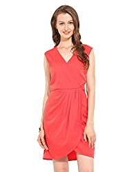 Pink Polyester Skater Dress Small