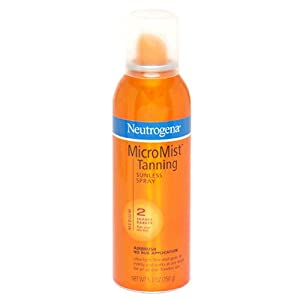 Neutrogena MicroMist Tanning Sunless Spray, Medium, 5.3 Ounce (Pack of 2)