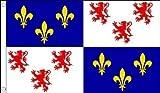 5 ft x 3 ft 150 x 90 cm-Drapeau France Picardie) Drapeau 100% Polyester...