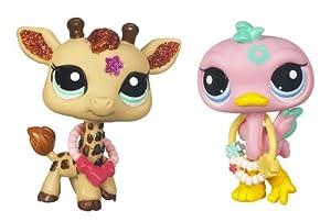 Littlest Pet Shop - 34423 - Poupée et Mini-Poupée - Petshop Duo - Flamand rose(2349) et Girafe(2348)