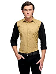 Edjoe Men's Multi Color With Printed Sleeves Slim fit Party/Casual Wear Shirt