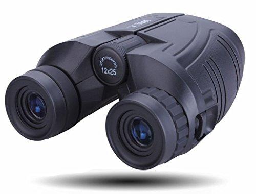 12x25 Binoculars Large Eyepiece Nitrogen Inflator Waterproof Binoculars (BAK4,Green Lens) PowerView Super High-Powered Surveillance Binoculars