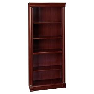 Bush Furniture Birmingham Executive Bookcase, Harvest Cherry