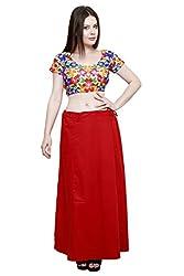 Pistaa Women's Cotton Maroon Colour Best Ethinic Comfort Inskirt Saree petticoats