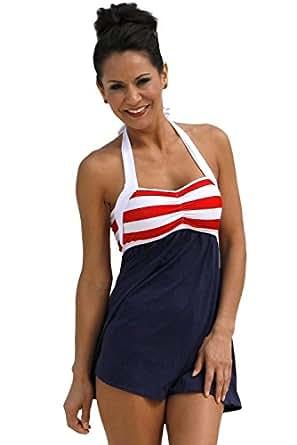 BOTTOM ONLY Sailor Girl Swim Dress at Amazon Women's