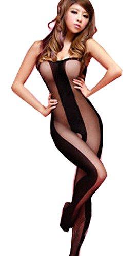 body stocking crotchless pantyhose