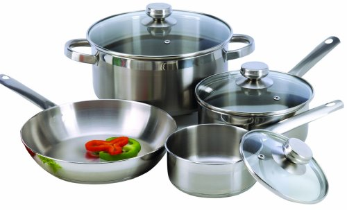 Excelsteel 7 Piece 18/10 Stainless Steel Cookware