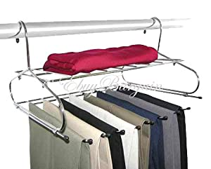 Hanging Pants Rack Closet Organizer