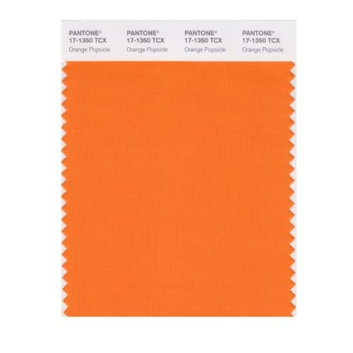 PANTONE SMART 17-1350X Color Swatch Card, Orange Popsicle