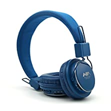 buy Granvela® A809 Lightweight Foldable Stereo Headphones Adjustable Headband Kids Headsets With Built-In Fm Radio, Micro Sd Card Player,3.5Mm Jack For Iphone, Ipad, Android, Pc And More (Blue)