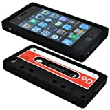 Cbus Wireless brand Black/Red Silicone Cassette Tape Case / Skin / Cover fo ....