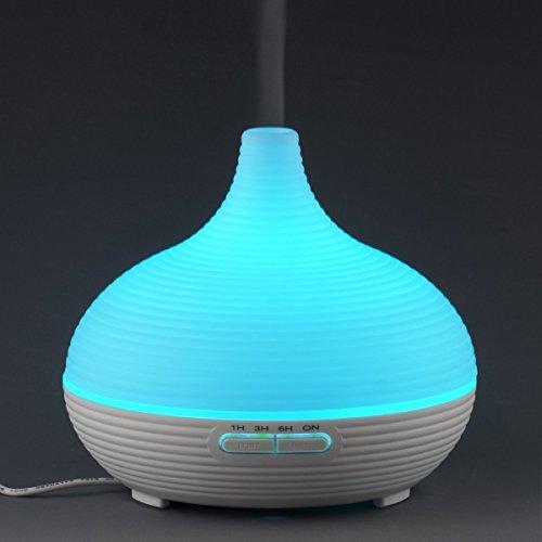 Foneso Diffusore di aromi/Umidificatore ad Ultrasuoni/Diffusore oli essenziali 7 colori LED Auto off purificatore 300ml
