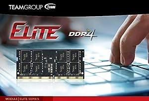 TEAMGROUP Elite 16GB Kit (2 x 8GB) DDR4 2400MHz (PC4-19200) CL16 Unbuffered Non-ECC 1.2V SODIMM 260-Pin Laptop Notebook PC Computer Memory Module Ram Upgrade - TED416G2400C16DC-S01-16GB Kit (2 x 8GB (Tamaño: 16GB Kit (2 x 8GB))