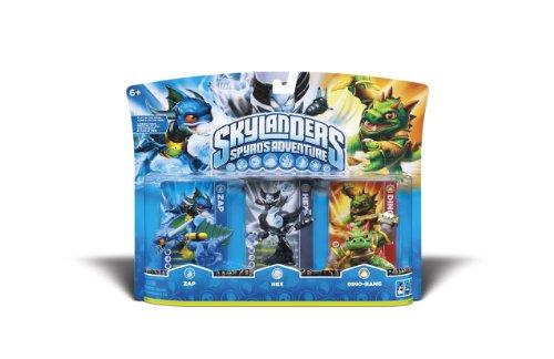 Skylanders Spyro's Adventure Triple Character Pack - Zap, Hex, Dino Rang
