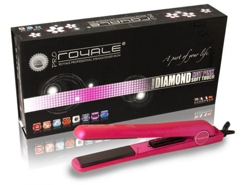 Royale Hot Pink Diamond Collection Classic Hair Straightener 176°f to 450°f with 100% Ceramic Plates (Royale Hair Iron compare prices)
