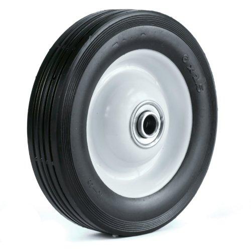 Martin Wheel 615-Of-R 6 By 1.50-Inch Light Duty Steel Wheel For Lawn Mower, 1/2-Inch Ball Bearing, 1-3/8-Inch Offset Hub, Rib Tread