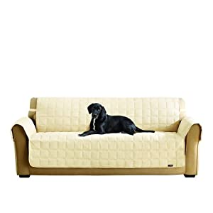 Surefit 1 Piece Quilted Sofa Suede Waterproof