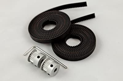 Easy RepRap Brand GT2 Belt and Pulley Set for 3D Printers 20 Tooth (reprap, Prusa, MendelMax)