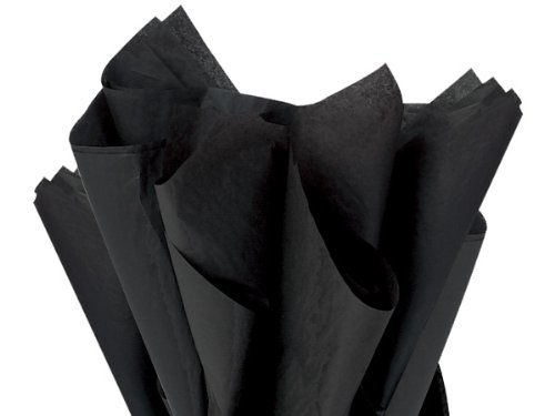 "Bulk Black Tissue Paper 20"" X 30"" - 48 Xl Sheets front-739276"