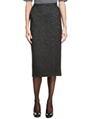 M&S Collection New Wool Blend Long Length Pencil Knitted Skirt