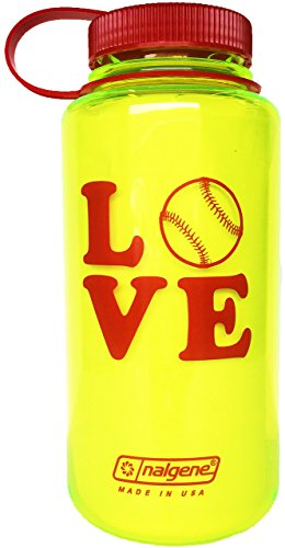 buy Nalgene 32 oz. BPA Free Love Softball Water Bottle for sale