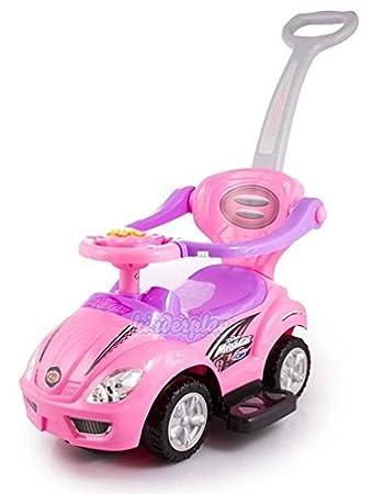 Kinderplay Trotteur petite voiture pousseur ROSE KP0233P