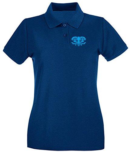 T-Shirtshock - Polo Donna FUN0180 07 12 2013 Elephant Never Forget T SHIRT det, Taglia L