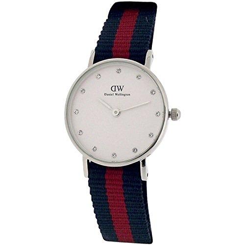 Daniel-Wellington-donna-Classy-Oxford-26-mm-blu-e-rosso-cinturino-Nato-0925dw