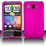 HTC Inspire 4G Rubberized Pink Protective Hard Case Cover for HTC Inspire 4 ....