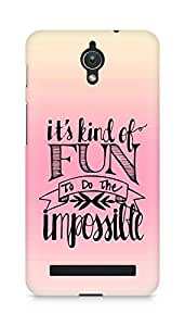 AMEZ its kind of fun to do the impossible Back Cover For Asus Zenfone C ZC451CG
