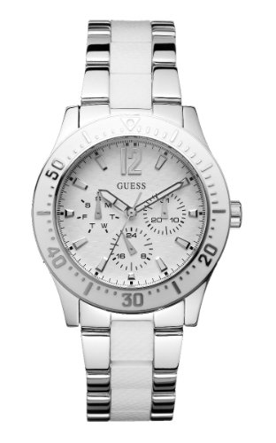 Guess Candy Stripe White Dial Multifunction Ladies Watch W15067L2