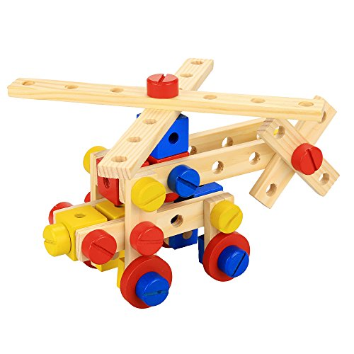 Arshiner-Baby-78-PCS-Functional-Wooden-Nuts-and-Bolts-Combination-Toys-Building-Construction-Set