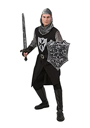 Fun Costumes mens Plus Size Black Knight Costume