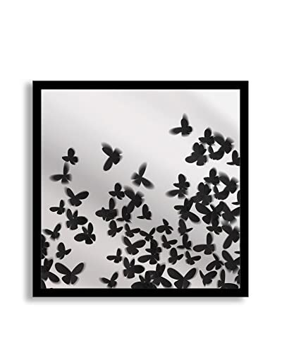 Gallery Direct Butterflies Print on Mirror, Multi, 18 x 18