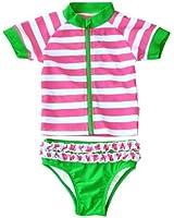 Watermelon Crawl - UV Sun Protective Rash Guard Swimsuit Set by SwimZip Swimwear
