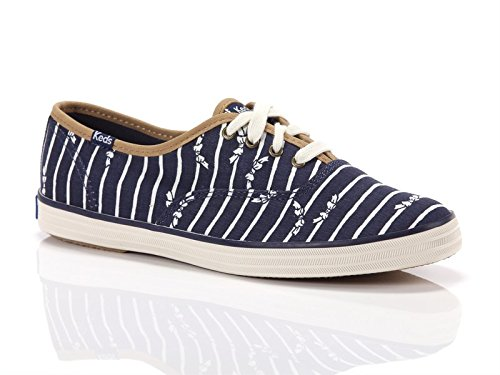 Keds, Donna, Taylor Swift Champion Bow Stripe, Canvas, Sneakers, Blu, 41 EU